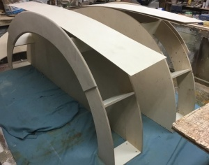 Bending plywood to make egg shaped curves