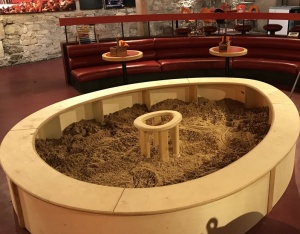 egg shaped sandpit